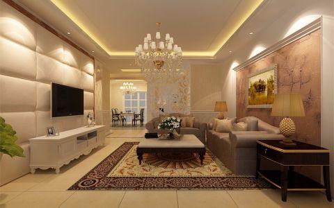 简欧风格118平米三室两厅新房装修效果图