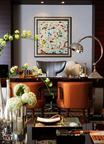 书房照片墙新中式风格装饰图片