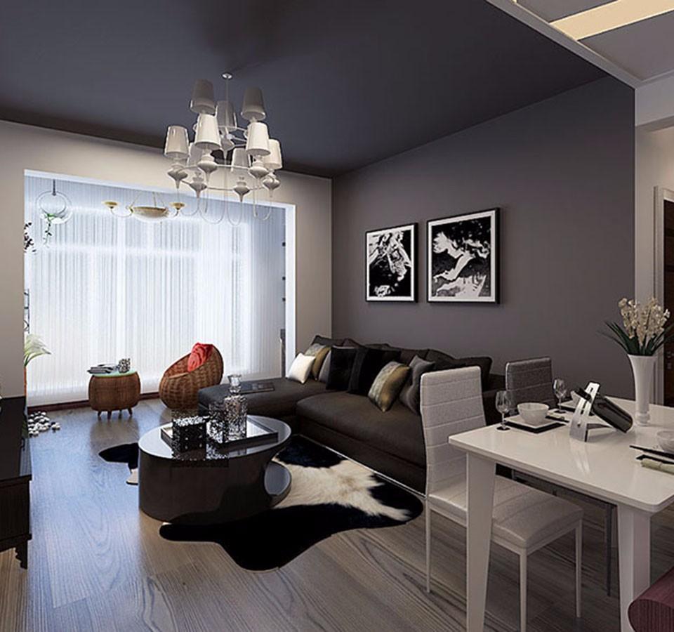 1室1卫1厅55平米后现代风格