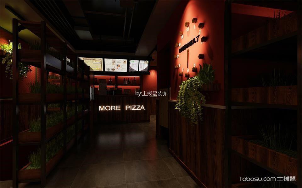猫儿披萨快餐店猫儿披萨店顾客就餐区背景墙装修图片