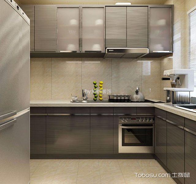 厨房 橱柜_后现代风格55平米一室一厅新房装修效果图