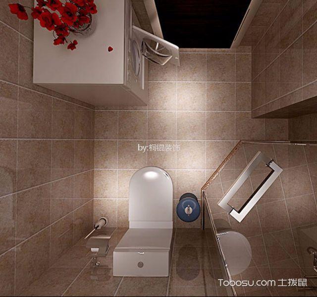 卫生间 背景墙_后现代风格55平米一室一厅新房装修效果图