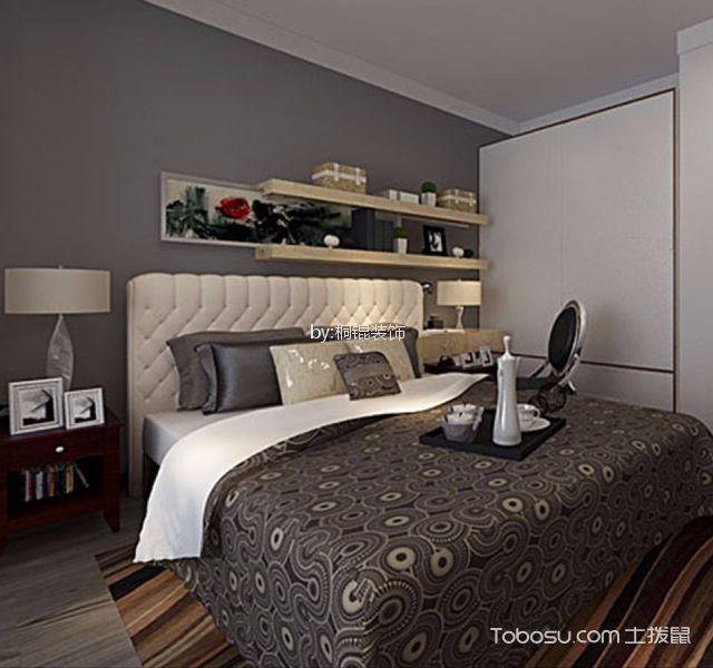 卧室 床_后现代风格55平米一室一厅新房装修效果图