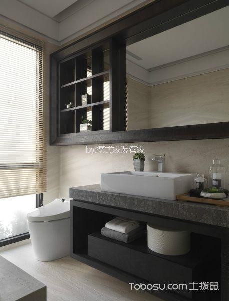 卫生间灰色吧台现代简约风格装修设计图片