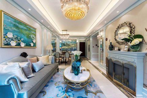 法式风格97平米两室两厅新房装修效果图
