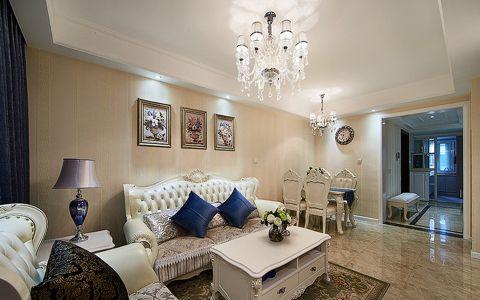 现代欧式风格90平米公寓新房装修效果图