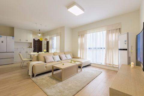 日式风格90平米三室两厅新房装修效果图