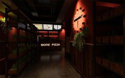 猫儿披萨快餐店装修效果图