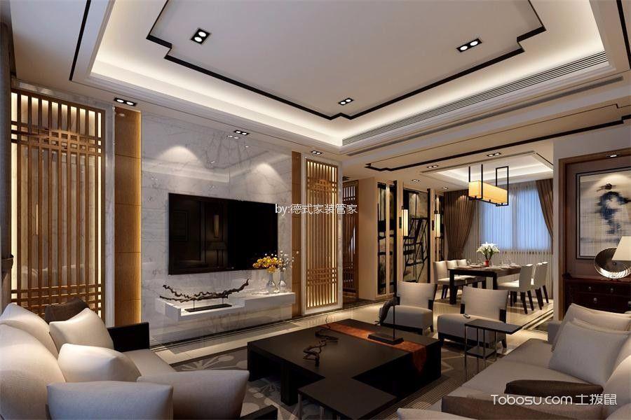 中式风格110平米四室两厅新房装修效果图
