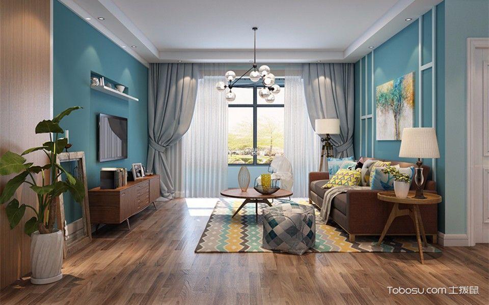 北欧风格102平米三室两厅新房装修效果图