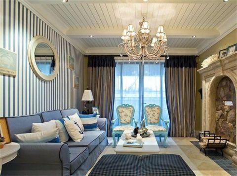 80平混搭风格二居室装修设计图