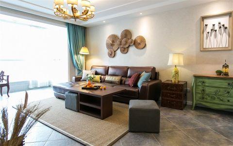 柏悦公馆混搭风格130平二居室装修效果图