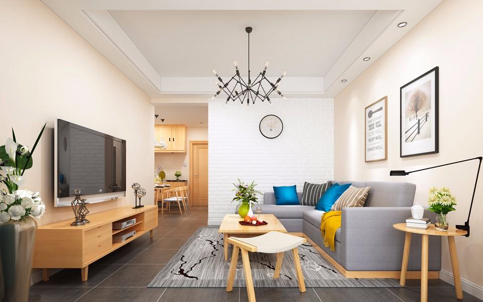 2室1卫2厅63平米现代简约风格