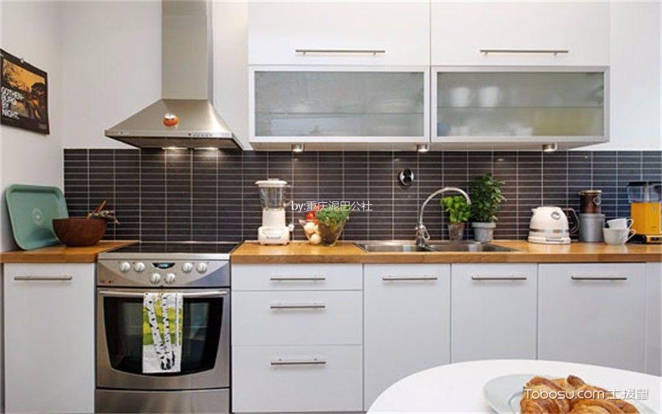 厨房_59平北欧风格一居室装修效果图