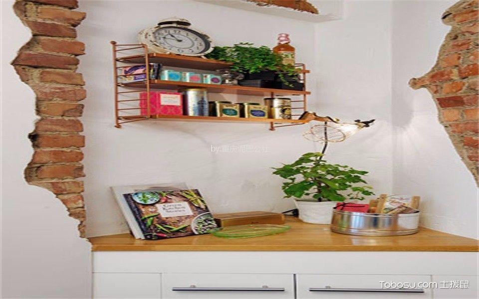 厨房 背景墙_59平北欧风格一居室装修效果图