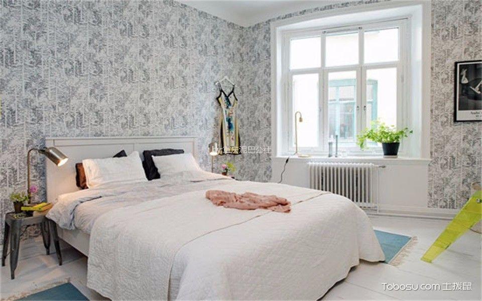 卧室 窗台_59平北欧风格一居室装修效果图