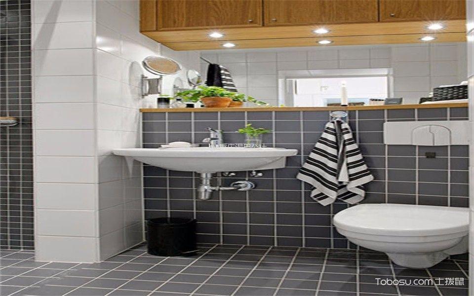 卫生间 背景墙_59平北欧风格一居室装修效果图