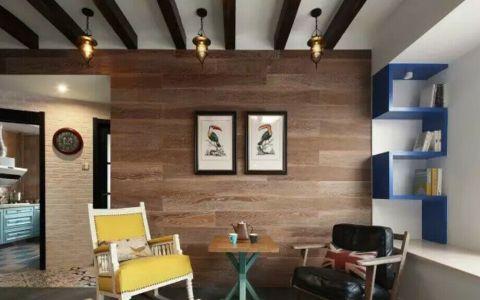餐厅背景墙美式风格装饰图片