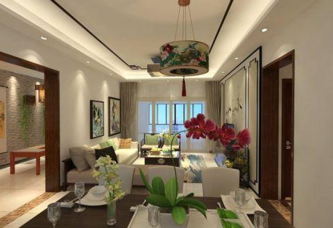 新中式风格130平米套房室内装修效果图