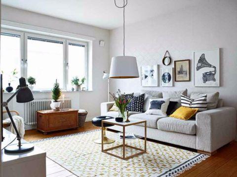 建设派84平北欧风格二居室装修效果图