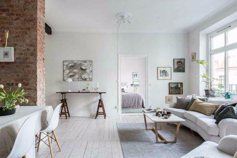 客厅隔断北欧风格装饰图片
