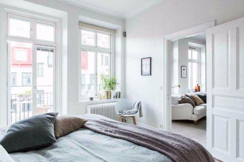 卧室窗台北欧风格装修图片