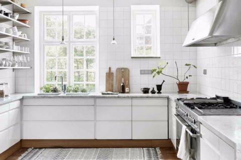 厨房背景墙北欧风格装修设计图片