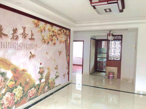 汤汪花园新中式70平二居室装修效果图