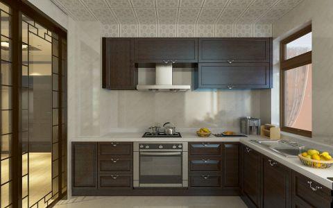 新中式风格95平米两室两厅新房做效果图