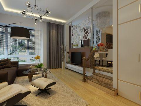 126平米三居室跃层现代简约装修效果图