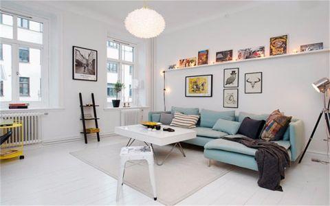 北欧风格59平米一居室新房装修效果图