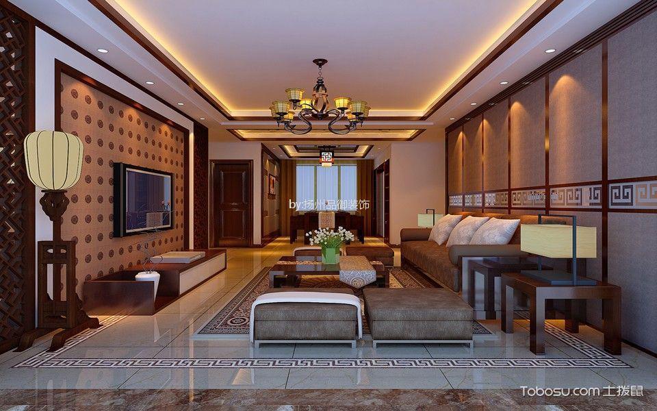 中式风格340平米复式新房装修效果图