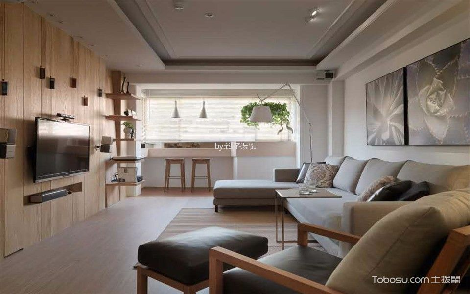 都市潮流100平米现代三居室装修效果图