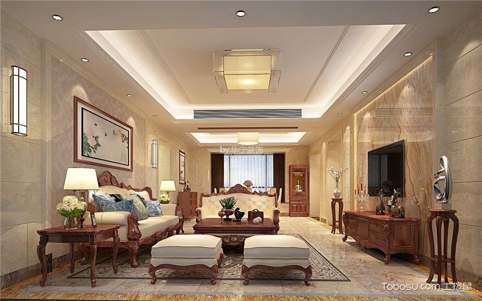 中式风格210平米四室两厅新房装修效果图