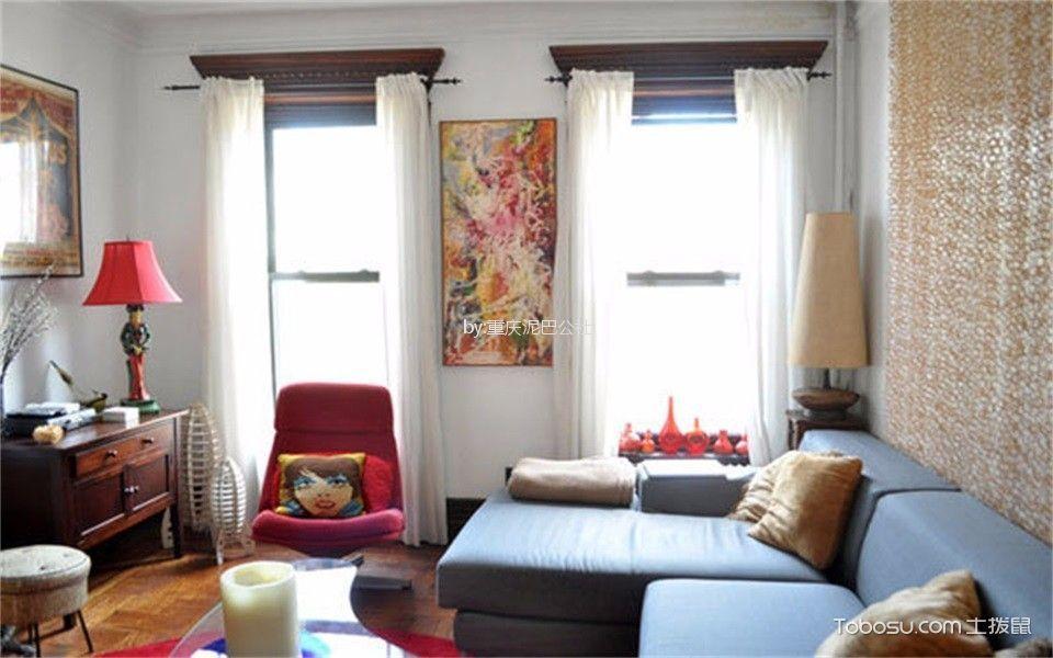 50平混搭风格一居室装修效果图