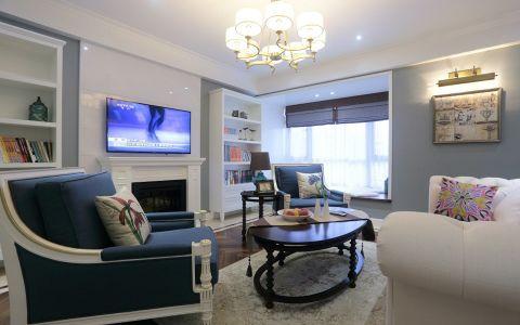 现代欧式风格80平米三室两厅新房装修效果图