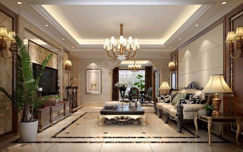 客厅地砖欧式风格装修设计图片