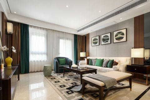 星河国际三居室新中式风格装修效果图