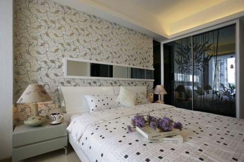 卧室床头柜北欧风格装饰图片