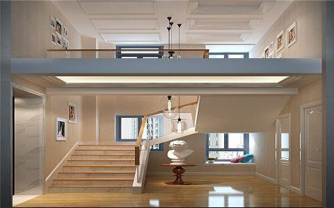 玄关楼梯简欧风格装潢图片