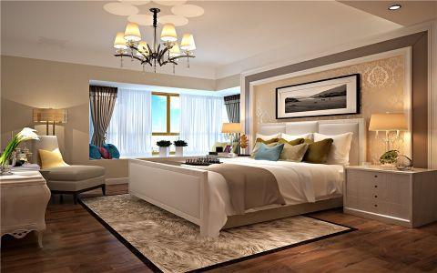 卧室床简约风格装修图片