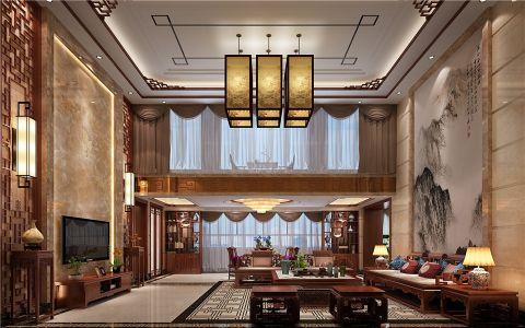 中式风格320平米别墅新房装修效果图