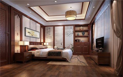 卧室床头柜中式风格装饰图片