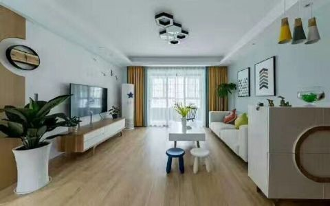 北欧风格110平米三室两厅新房装修效果图
