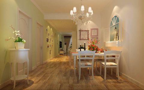 餐厅地板砖田园风格装修设计图片