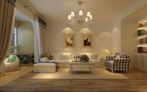 客厅沙发田园风格装潢设计图片