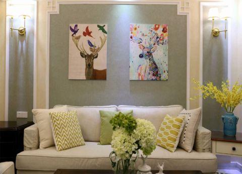 客厅背景墙欧式风格装饰图片