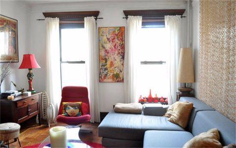 混搭风格50平米一居室新房装修效果图