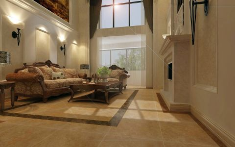 客厅窗帘欧式风格装修设计图片