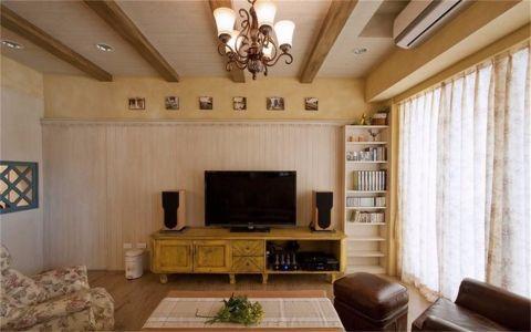 客厅窗帘田园风格装潢效果图